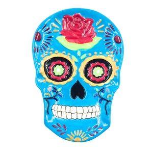 Spoon Rest Sugar Skull Blue Day of the Dead Muerto